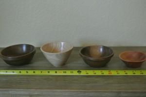 Bowl: Walnut, Ash and Eucalyptus
